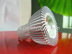 LED reflector lamp LED case machining