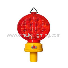 Traffic barricade warning light