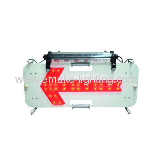Led arrow direction sign with soalr panel