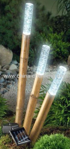 Outdoor Bamboo Solar Sticking Lights Manufacturers And