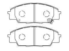 Front brake pad sets HONDA