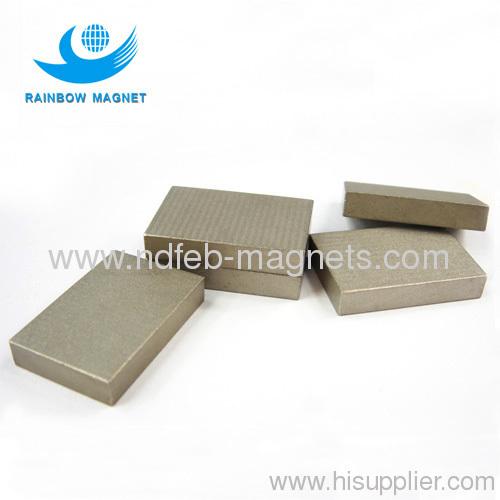 sintered Sm2Co17 block magnet. Rare Samarium cobalt