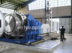 Large size HDPE pipe production line