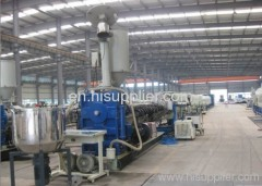 HDPE pipe extrusion production line