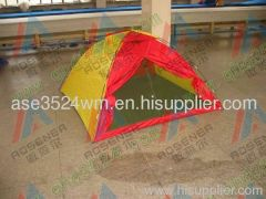 1029 red and yellow travel tent