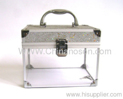 White and transparent Lockable catch