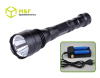 Police flashlight long distance rechargeable torch light with 3 watt Cree Q3 bulb