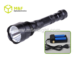 police flashlight rechargeable battery
