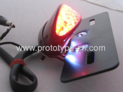 Custom LED motorcycle lights