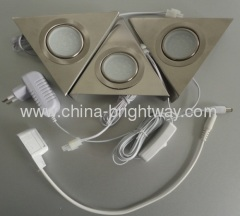 SMD3528 3pcs set Triangle Led Cabinet Light