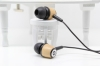 wooden stereo earphone for MP3/MP4