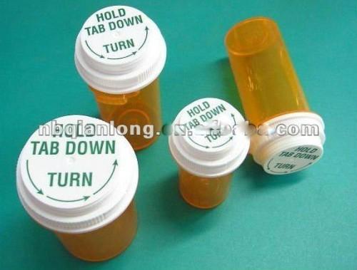 most hot-seller push down vials pop top medical bottle