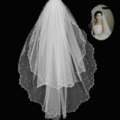 Long Beaded Veils