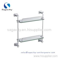 dual glass shelves
