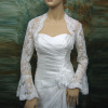 long bell sleeve bridal alencon lace bolero jacket