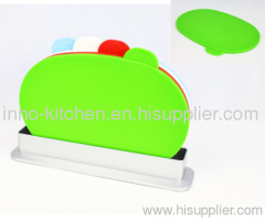 Plastic Color Coded Oval Index Chopping Board Set of 4