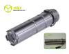 3-modes aluminum 1w high power led flashlight 3AAA battery