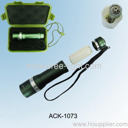 Arm Green Plastic Gift Box AA/AAA/CR123A Battery Used CREE