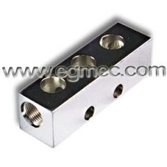 90 Degree Carbon Steel Bspp Threaded Header Bar Manifold