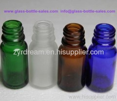 clear essential oil bottle