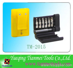 7 piece small screwdriver bit in compact pack for promotion