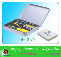 24 piece promotional tool set with tinplate box