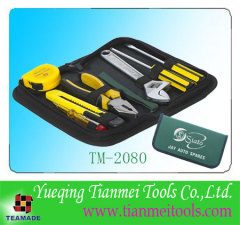 8 piece home tool set in compact cloth bag for promotion use