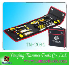 34 piece promotional toolkit, with hammer, screwdriver, clock screwdriver, cloth bag