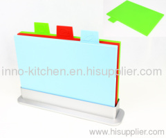 Index Chopping Board Set with 3 Colored Chopping Boards