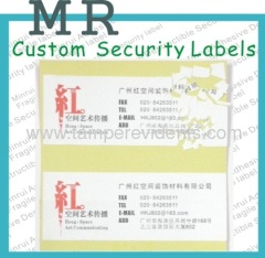 Custom Eggshell Sticky Address Labels,Security Egg Shell Aaddress Labels,Destructive Asset Labels with Permanent Glue