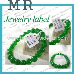 Custom High quality jewelry labels,Vinyl Jewelry Stickers for price or barcode,Jewelry Labels