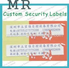 security seal labels