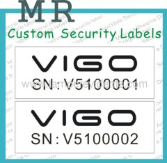 Warranty void security labels
