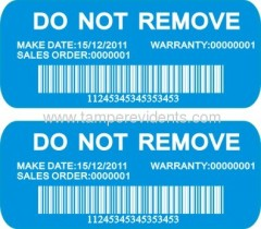 security barcode stickers