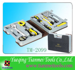 24 piece home tool set with leather case