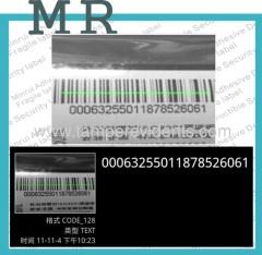 Destructive barcode stickers