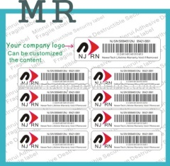 security barcode stickers roll
