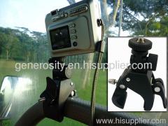 Motorcycle bicycle handlebar handgrip mount monopod camera mount