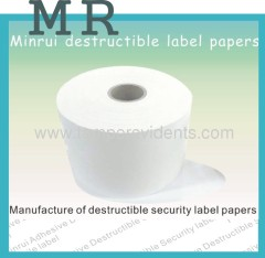Ultra Destructible Vinyl Label paper