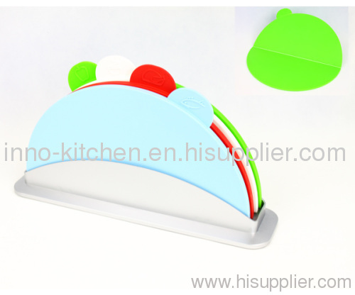 4pcs foldable index chopping boards