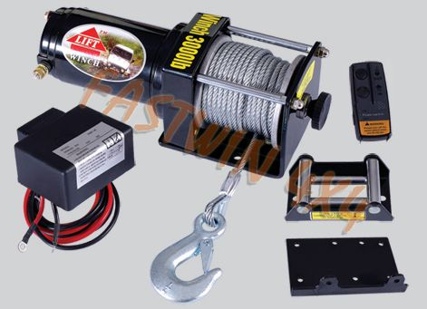 3000lb ATV Electric Winch with Wireless Remote Control