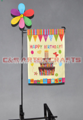 custom birthday cake garden flag