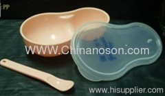 Unbreakable Plastic Baby Bowl with spoon CB-01
