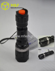 rechargeable focus adjustable flashlight