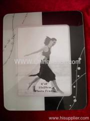 White and black Glass Photo Frame