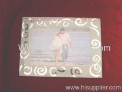 White and Transparent Glass Photo Frame