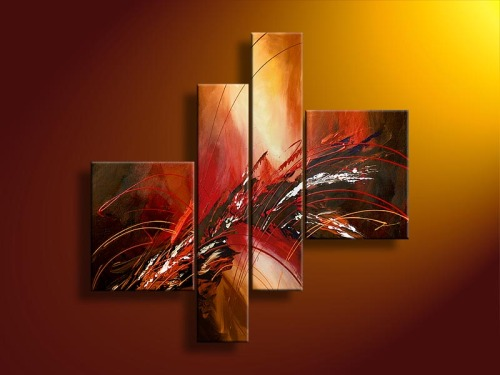 Abstract Group Oil Painting