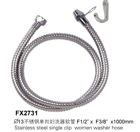 stainless steel single clip women washer hose xm fx2731 manufacturer from china xuming industry. Black Bedroom Furniture Sets. Home Design Ideas