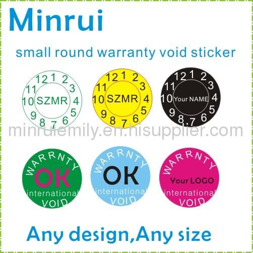 Warranty Void Stickers From China Manufacturer Shenzhen