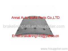 brake lining WVA:19260,brake lining BFMC:DF/17/2,trailer brake parts,drum brake lining,heavy truck part,friction lining